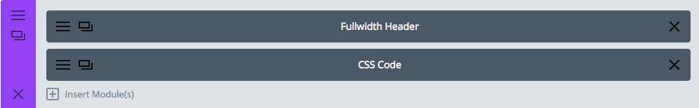 Divi Fullwidth Header and Code Module together in a section