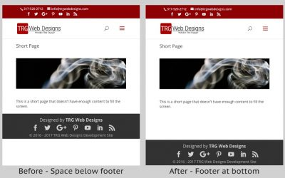 Force Divi Footer to the Bottom of the Screen