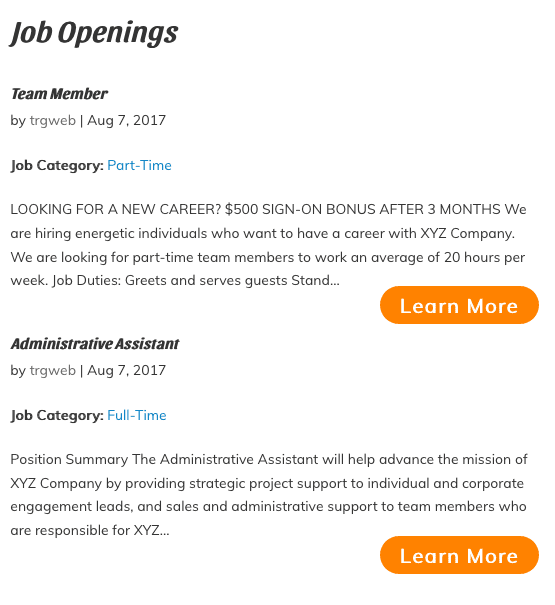 Image showing Job Opening Page